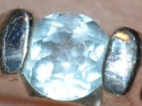 may be a blue topaz but pretty sure it's a natural