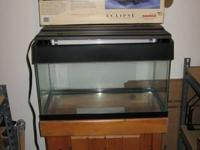 15 gallon fish tank with Eclipse 2 lighting and