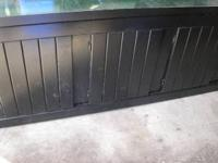 For sale a black solid wood aquarium fish tank stand