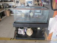 I have a 55gal aquarium, black wood stand, 2 lids, 2