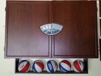 ARCADE BASKETBALL GAME IN WALL CABINET, OPENS AND PULLS