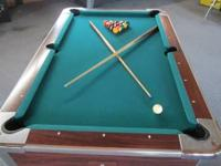 Pool Table $1000 OBO.  Sorry no Pinball Video games.