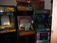 Coin-op arcade games for sale. Call Joe @ , you must