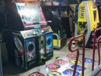 We have a bunch of arcade machines available or field