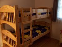 Arches Stackable Bunk Bed - Sharp Looking -- Solid Wood