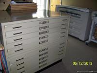"3 - 40 1/2 x 29 1/2 x 16 1/2 high, 5 - 2 1/2""drawers"