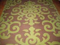 6ft x 9ft area rug - 2 yr old- 100% wool loop pile