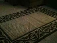 Black and cream area rug. If interested feel free to