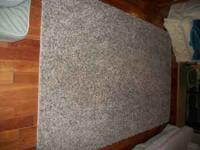Brown shag area rug (8' X 5'). Paid $100.00 for it