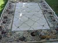 "FOR SALE, NICE AREA RUG, 6'7""x 9'1"" COMES FROM FREE"