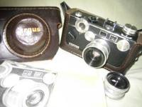 Argus C-3 35mm camera with 50 mm lens, and 35 mm