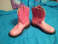 Ariat, Ladies, Fatbabies. :) Pink, and size 9.5 B. worn