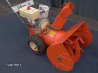 runs/works well heavy duty older machine electric start
