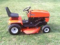 runs good, mows good, starts easy. not all beat up. 12