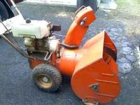 "ariens 5hp 24""cut runs good.call cesar"