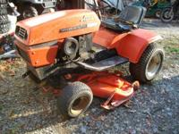 ARIENS S-14 H RIDING MOWER, HAS HYDRAULIC LIFT FOR