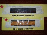 NEW in box G Scale cars $40.00 to 100.00ea. SD-45 's