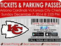 Arizona Cardinals vs Kansas City Chiefs December 7,