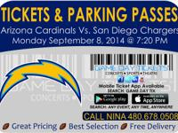 Arizona Cardinals vs San Diego Chargers September 8,