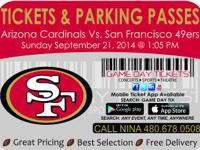 Arizona Cardinals vs San Francisco 49ers September 21,