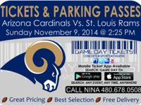 Arizona Cardinals vs St. Louis Rams November 9, 2014 at