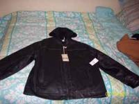 Arizona Leather Jacket Brand New never worn Paid 60.00