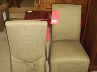 Armless Accent Chairs Green Pair Lowes Bargain Barn Furniture