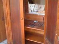 Tv armoire has power strip in it for easy plug ins 2
