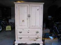 Beautiful Solid Wood Armoire. Very good condition. 2