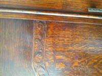 "Oak armoire in beautiful condition. 48"" wide x 75.5"""