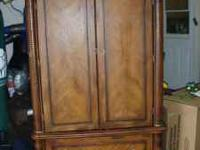 Large Ashley Furniture Television Armoire with two