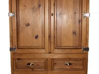 Armoire- Beautiful SOLID wood armoire/TV/Storage