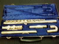 Armstrong 104 Flute, Dual Head, Curved Neck. Made use