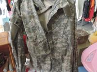 Army Coat & Trouser Combat Uniform with Gray and Green