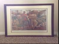 "Limited edition lithograph of Arnold Friberg ""The Trail"