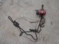 Air Chain Hoist. ARO. In utilized working condition.