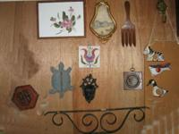 ]INTERESTING collection of items for wall arrangements,