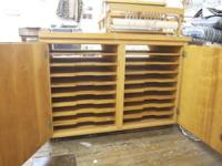 Big heavy duty art cabinet. Solid sturdy work space on