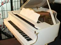 Beautiful White Gloss Art Case Baby Grand Piano, King