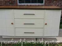 This art deco sideborad buffet was skillfully repainted