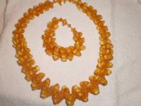For Sale- Art Deco Style bracelet of Baltic Amber set