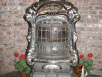 "Art Garland antique ""double heater"" parlor stove"
