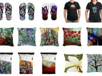 Elena Feliciano art inspired home items and clothing.
