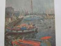 Casals - Harbour - Oil On Canvas - Private Collection,