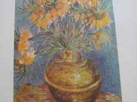 Vicent Van Gough - Flowers in a Vase - Oil on Canvas,