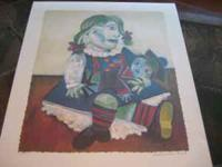 Picasso - Collection, Doll w/ Baby, Actual Print Area