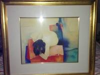 ARTIST CLAUDE GAVEAU PICTURE CALLED REPOSE PRINT SIGnED