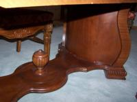 This classic art deco dining room table has gorgeous