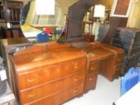 "Featured Item Art Deco ""Waterfall"" Dresser & Dressing"