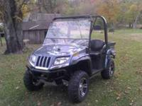 like new machine with winch,windshield, aluminum wheels
